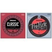 KIt contém 2 jogos de cordas 01 D'Addario EJ27N  e 01jogo de cordas EJ45TT Pro Arté