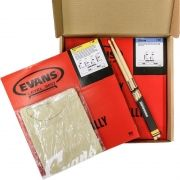 Kit Snare Evans Pele Hd Dry 14+ Pele Hazy14 + Camiseta Evans + Baqueta Promark 5A