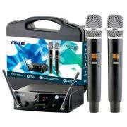 Microfone Sem Fio Dupo Vokal VMS12 UHF 10 Frequências