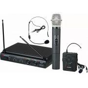 Microfone Sem Fio Mão + Headset Lapela Karsect Kru 302 Uhf