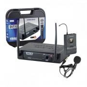 Microfone Vokal DVS-100 Lapela Sem Fio com 16 frequências digitais
