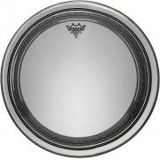 Pele Remo 22 Powerstroke Pro Transparente para Bumbo Pr-1322-00 com Abafador Extra e Sistema de Overtones