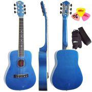 Violão 1/2 Infantil Nylon Kids V2 Mb Azul Metálico Tagima