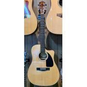 Violão Elétrico Fender AC-60 CE Aço Com Hard Case - Natural (Semi-Novo)