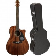 VIOLAO FENDER CD60CE DREADNOUGHT COM CASE - ALL MAHOGANY