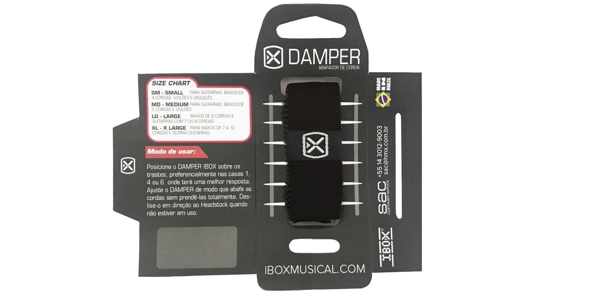Abafador de cordas Damper IBOX em tecido preto