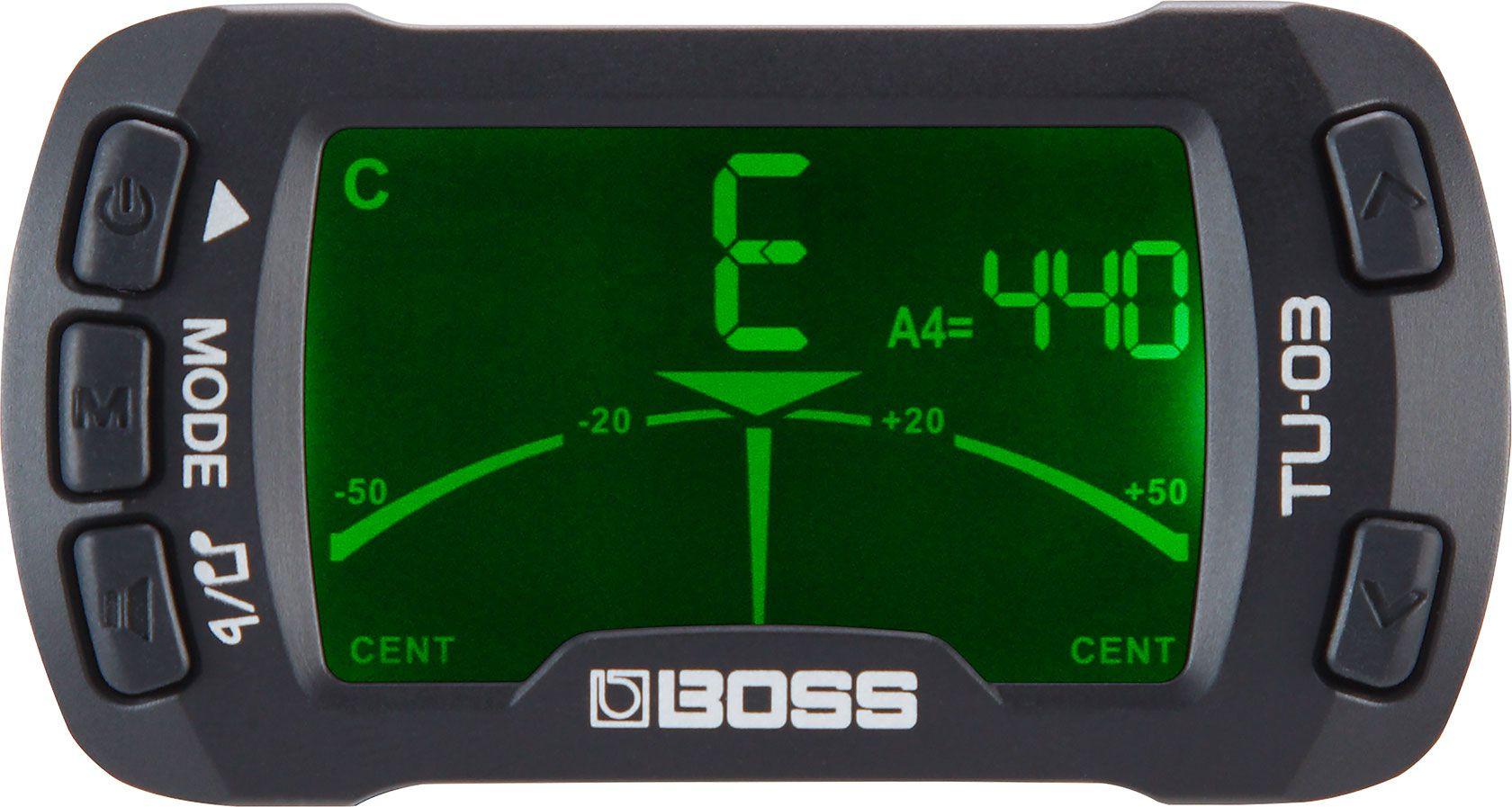Afinador e Metronomo Boss Tu03 Cromatico de Clip