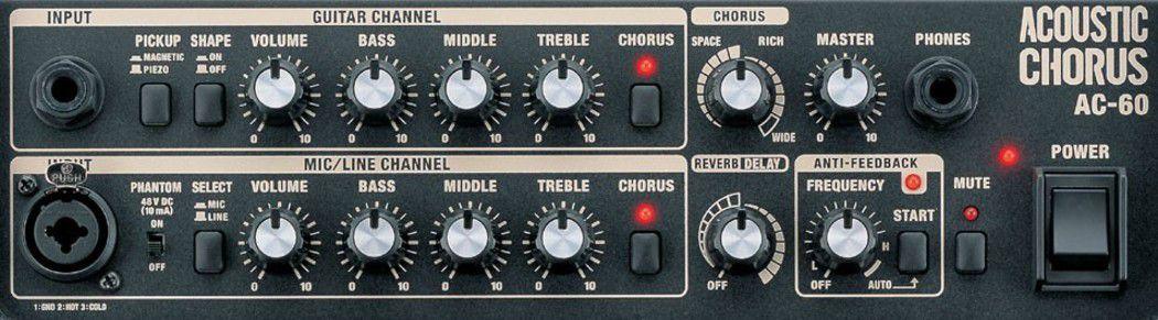 Amplificador AC-60 Roland  Para Violão e Voz Acoustic Chorus