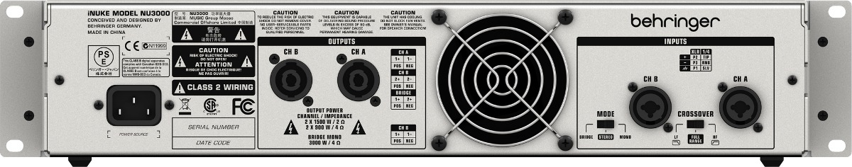 Amplificador de Potência NU3000 220V - Behringer