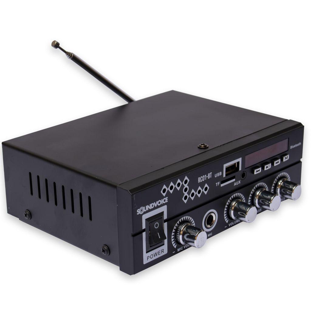 Amplificador Receiver Soundvoice 60 Watts RC01BT