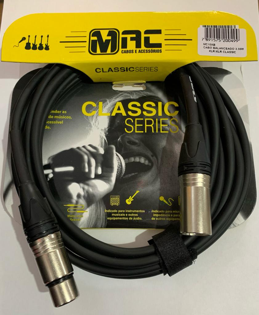 CABO MAC CABOS BALANCEADO MC10XB 3.05M XLR/XLR CLASSIC