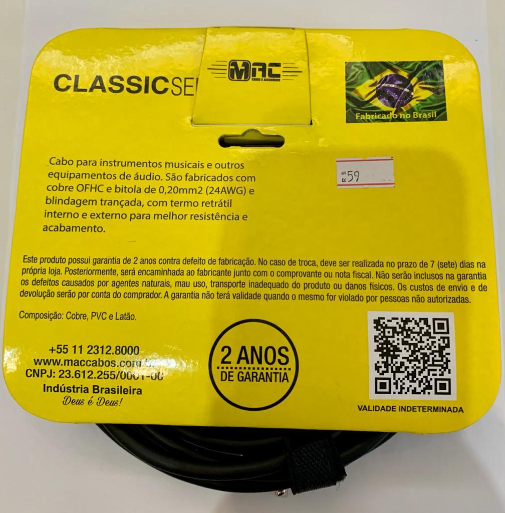 Cabo Mac Cabos Classic P10/P10 4,57m IC15B - Profissional