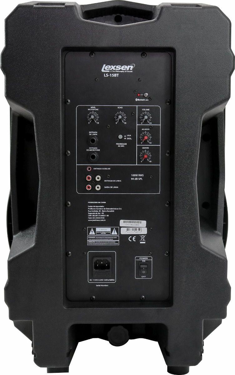 Caixa Acústica Amplificada Lexsen LS15BT