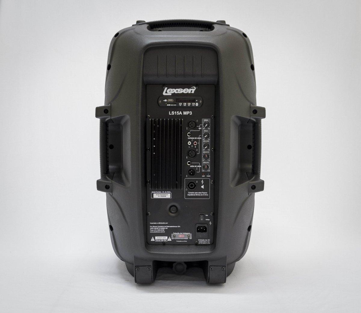 CAIXA DE SOM ATIVA LS15A  COM MP3, FM , SD Card e Bluetooth
