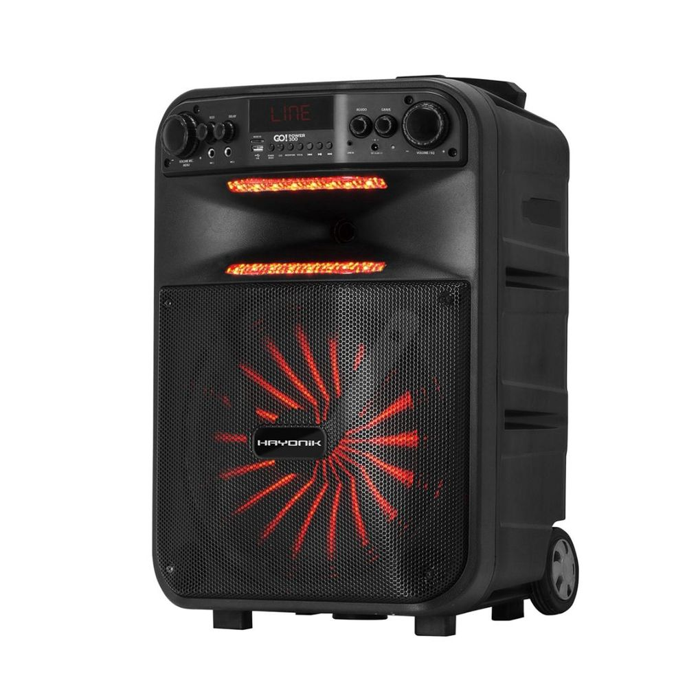 Caixa Multiuso Ativa  Portatil BLUETOOTH/MICROSD/USB/FM 100W Go!power 200 Hayonik