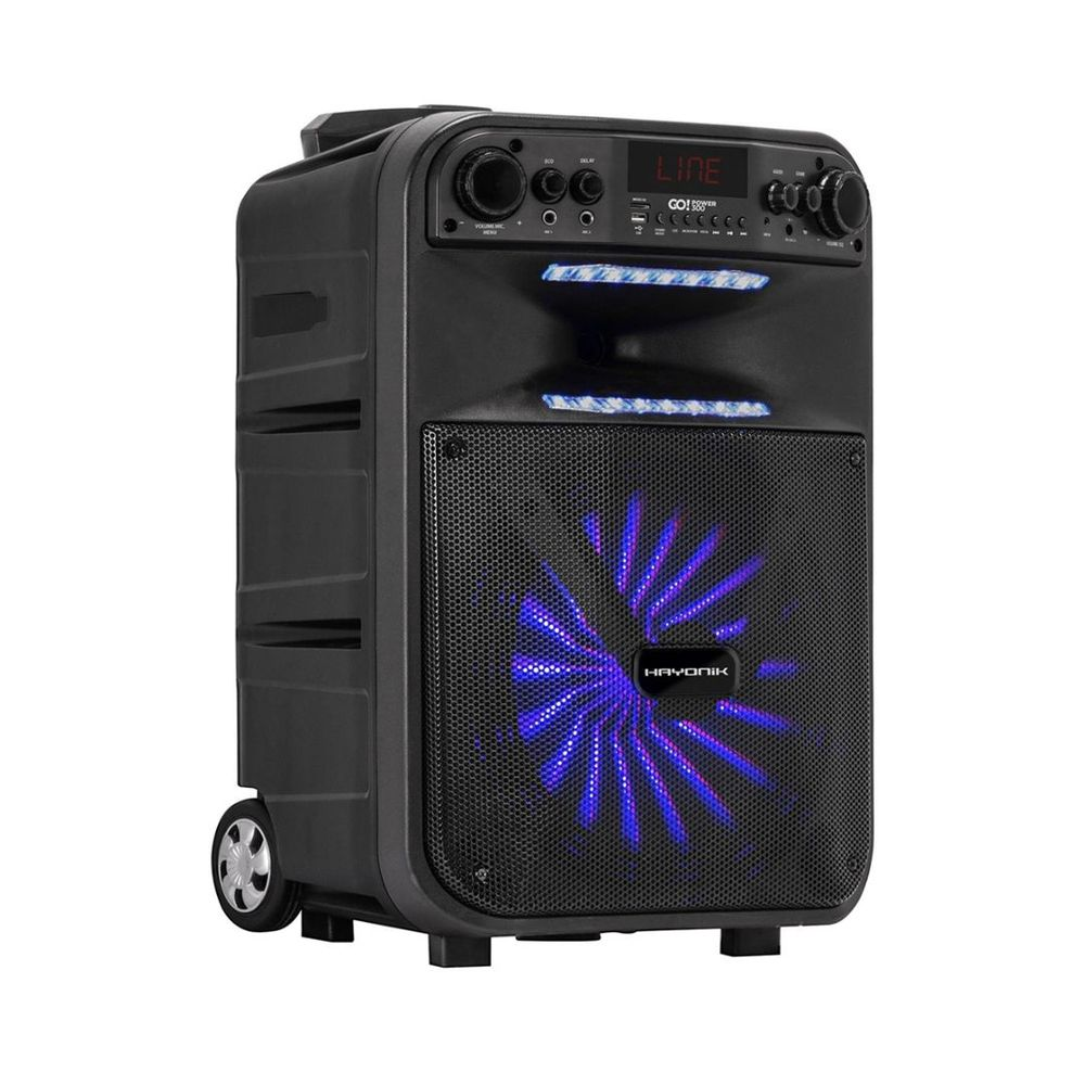 Caixa Multiuso Ativa Portátil Hayonik GoPower 300 Bluetooth/SD/USB/FM 200W