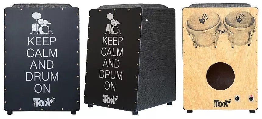 Cajon Elétrico Nobre Tok Com Bongô Keep Calm And Drum On