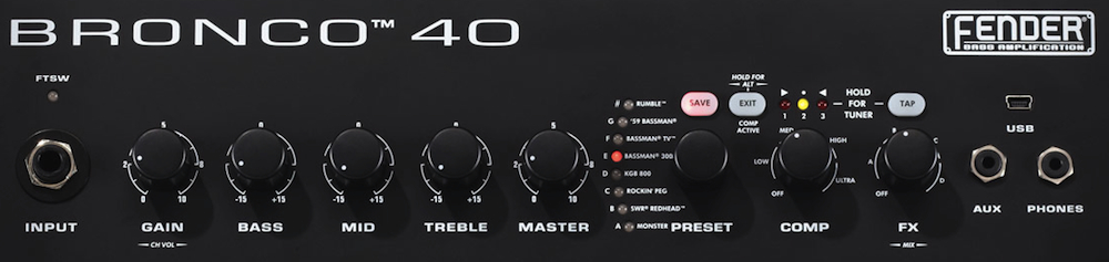Combo Contrabaixo Fender Bronco 40