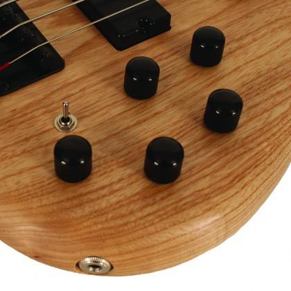 Contrabaixo Cort Ativo Action DLX 5 Cordas ACT ASH OPN V com Pre Amp Mark Bass