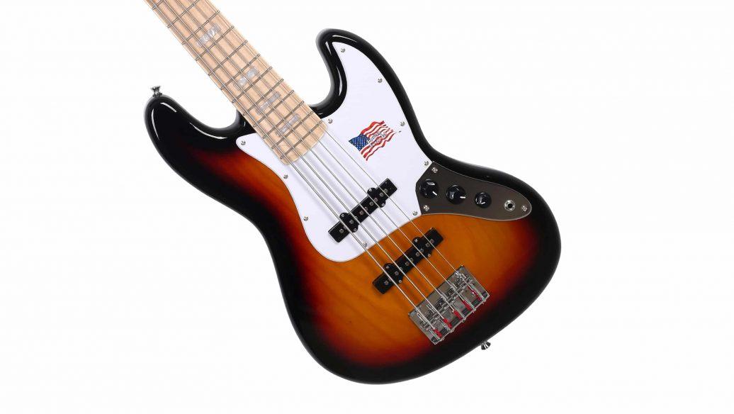 Contrabaixo Sx Jazz Bass 5 Cordas Passivo em Ash SJB755 3TS