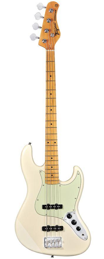 Contrabaixo Woodstock Branco Vintage Tw-73 Jazz Bass Tagima