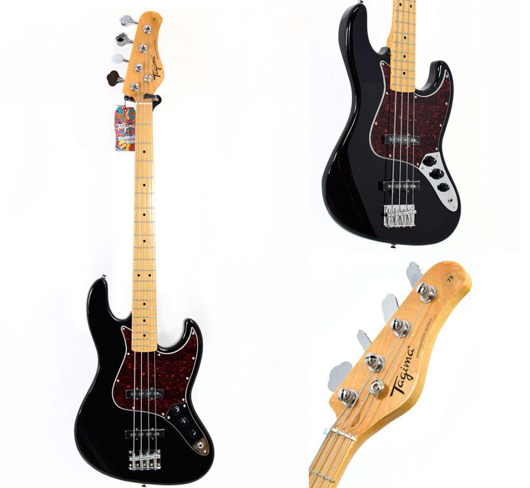 Contrabaixo Woodstock Preto Tw-73 Jazz Bass Tagima