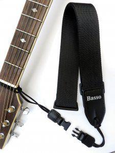 Correia Basso Qrv 04 Preta Para Guitarra - Violão