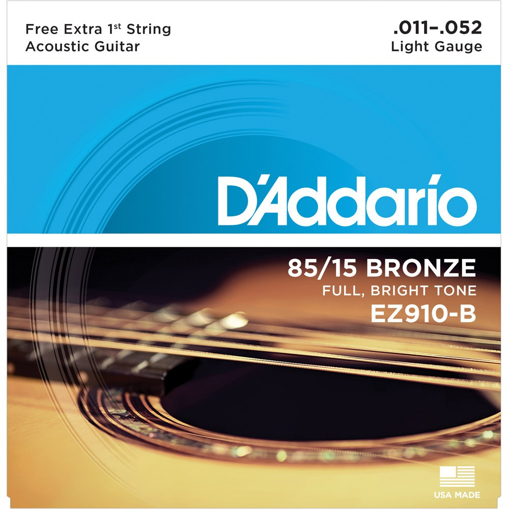 Encordoamento D´Addario Acoustic Guitar 011
