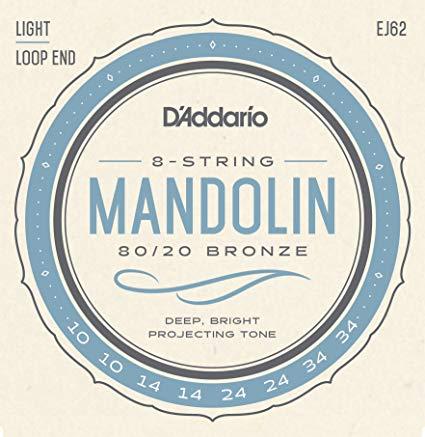 Encordoamento D´Addario Mandolin EJ62 Ligth