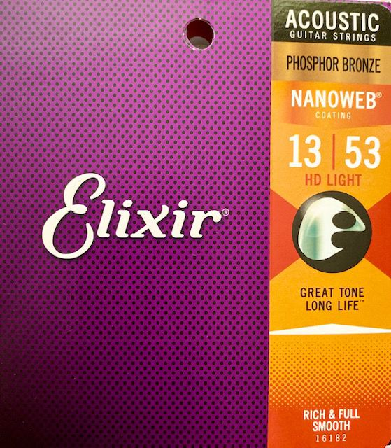 ENCORDOAMENTO ELIXIR 013-053 HD LIGHT PHOSPHOR BRONZE NANOWEB 16182