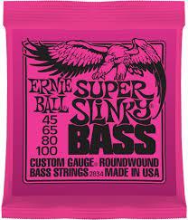 Encordoamento Ernie Ball Contrabaixo 0,45 4 cordas