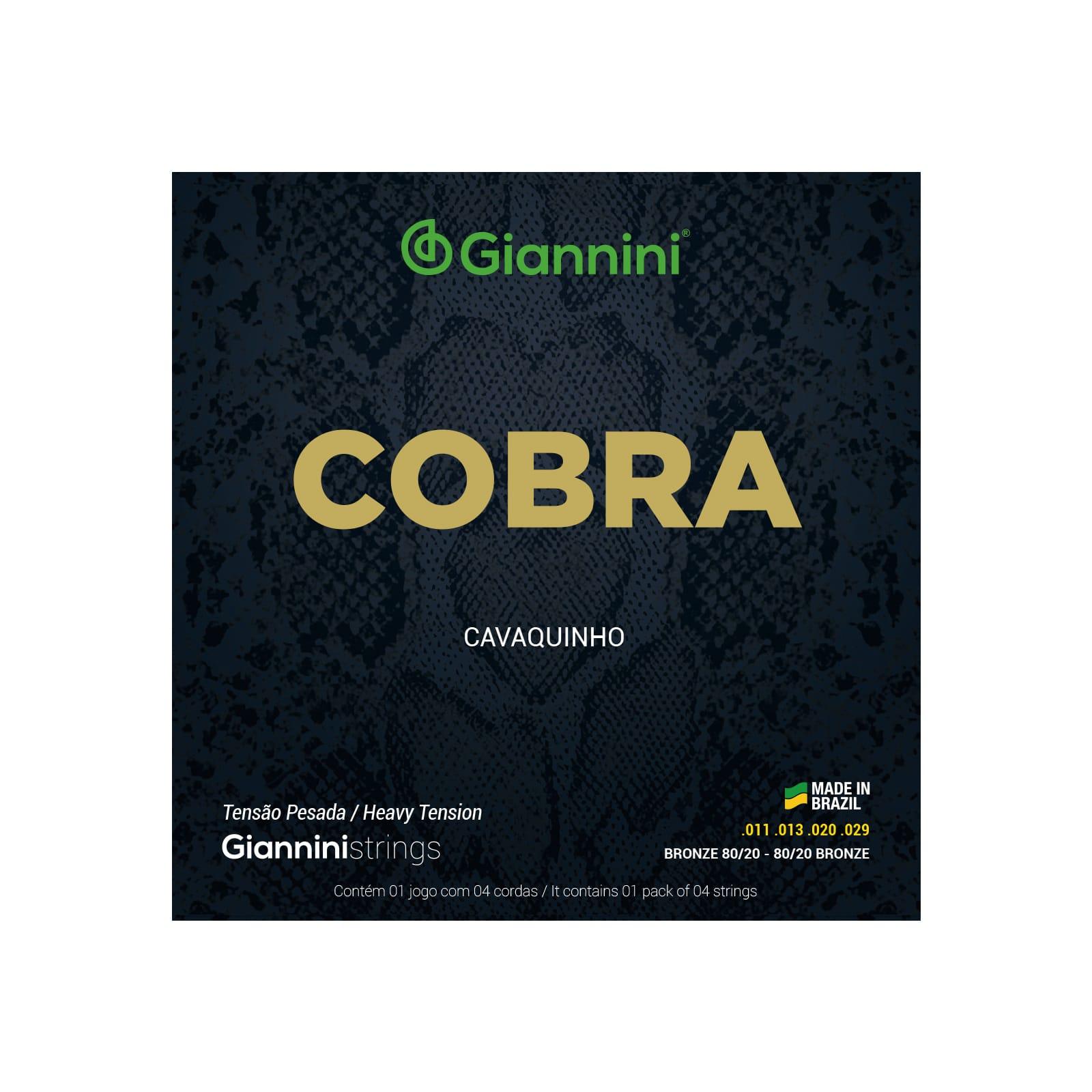 Encordoamento Giannini Cobra Cavaquinho Níquel Pesada Gescp