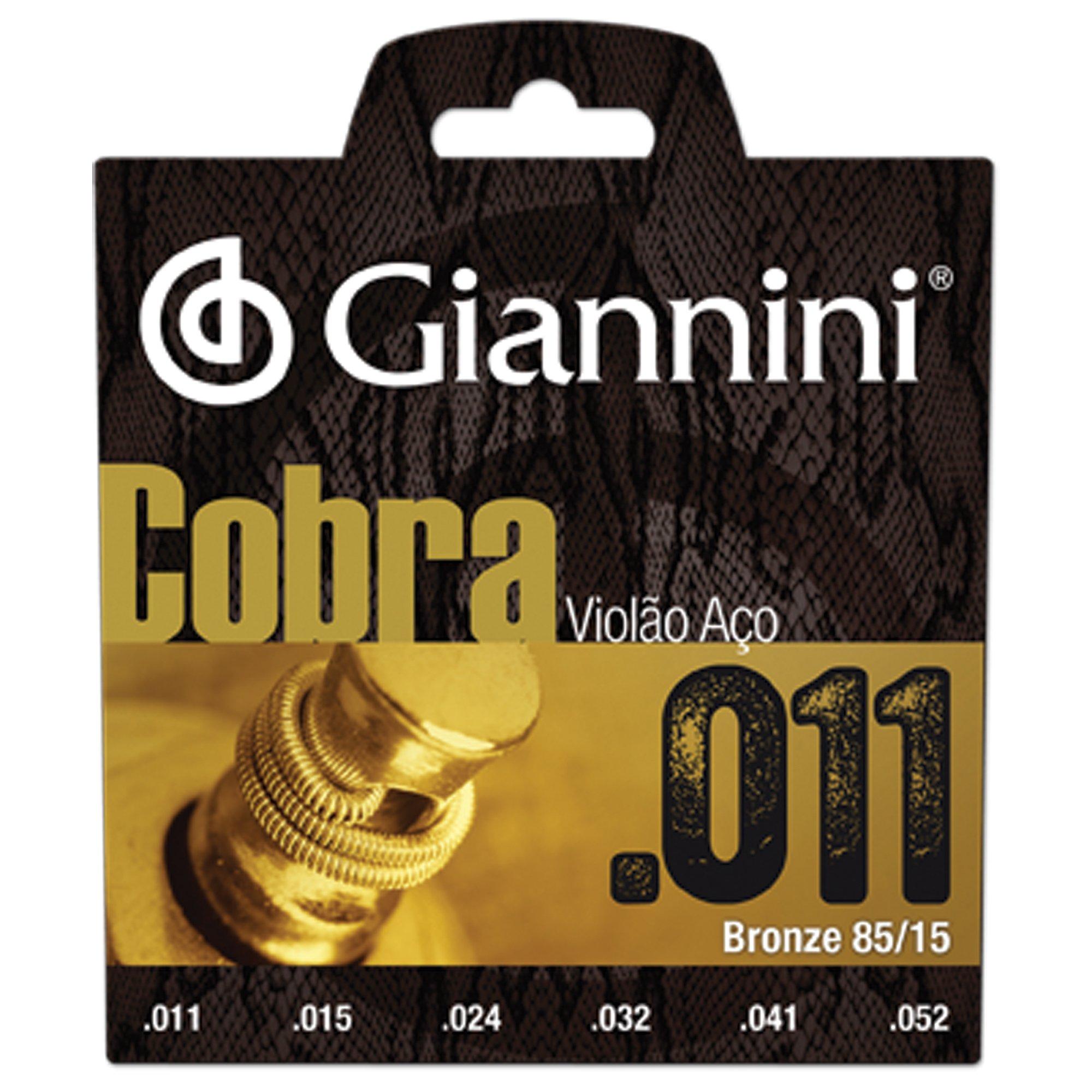 Encordoamento Giannini Cobra Violão Aço .011