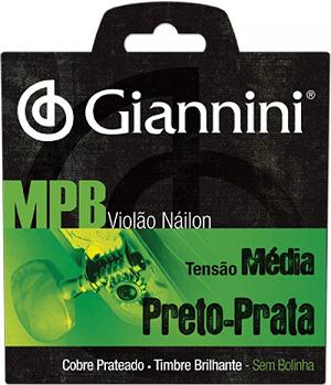 Encordoamento Giannini para Violão Nylon Tensão Media