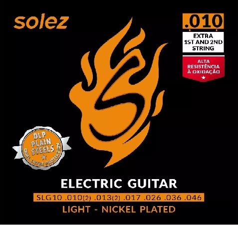 Encordoamento Guitarra .010 Solez (extra 1st and 2nd string)