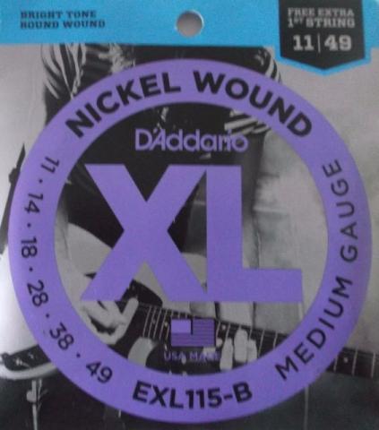 Encordoamento Guitarra DAddario 0,11 EXL 115