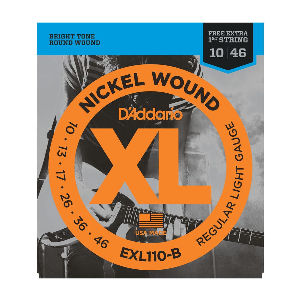 Encordoamento Guitarra DAddario 0,10 EXL 110