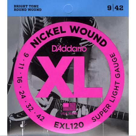 Encordoamento Guitarra Daddario 0.9 EX120-B