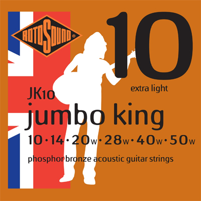 Encordoamento Guitarra Rotosound Jumbo King - Jk10