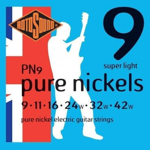 Encordoamento Guitarra Rotosound Pure Niquel Pn-9