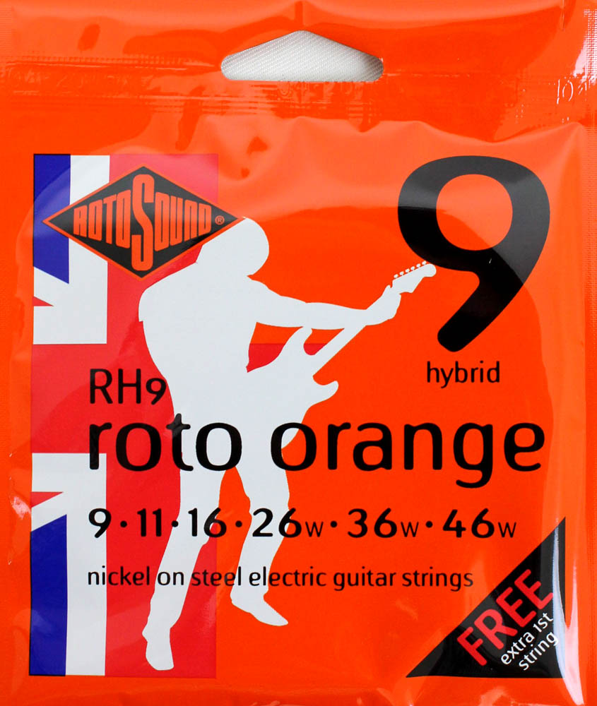 Encordoamento Guitarra Rotosound Roto Orange - Rh9