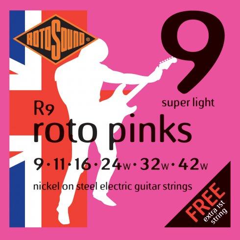 Encordoamento Guitarra Rotosound Roto Pink - R9