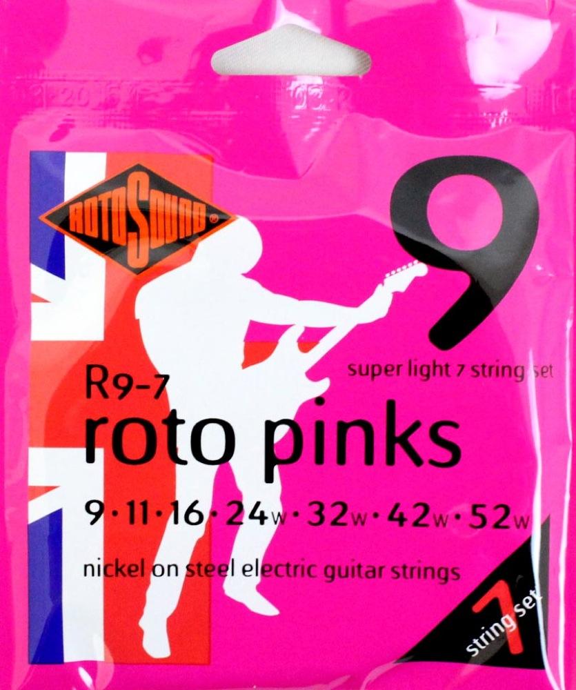 Encordoamento Guitarra Rotosound Roto Pink R9-7 7 Cordas