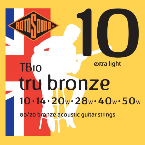 Encordoamento Guitarra Rotosound Tru Bronze - Tb 10
