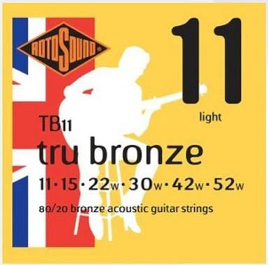 Encordoamento para Violão Aço Rotosound Tru Bronze - Tb 11