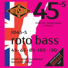ENCORDOAMENTO PARA BAIXO 5 CORDAS ROTOSOUND ROTOBASS 45-5