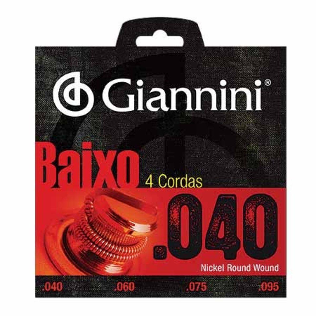 Encordoamento Para Contrabaixo 0.40 Giannini 4 cordas