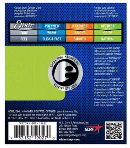Encordoamento para Guitarra Elixir Optiweb 0.11-0.49 19002 Medium