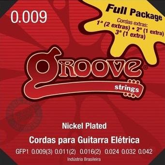 ENCORDOAMENTO PARA GUITARRA GROOVE 0.09