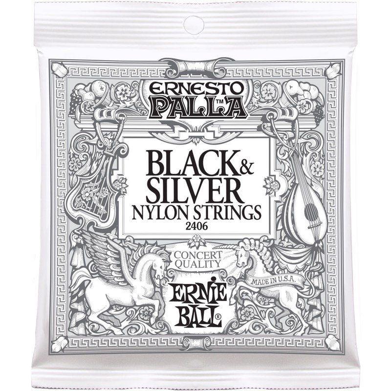 Encordoamento Para Violão Ernesto Palla Black & Silver Nylon